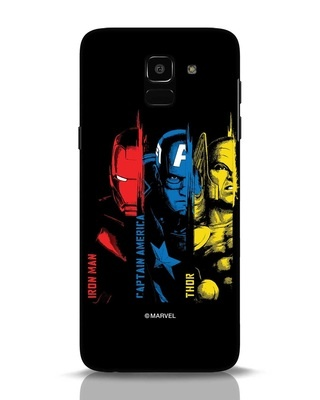 Shop Avengers Trio Samsung Galaxy J6 Mobile Cover (AVL)-Front