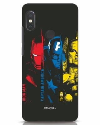 Shop Avengers Trio Xiaomi Redmi Note 5 Pro Mobile Cover (AVL)-Front