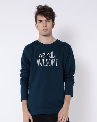 Buy Awesomely Weird Full Sleeve T-Shirt Online India @ Bewakoof.com