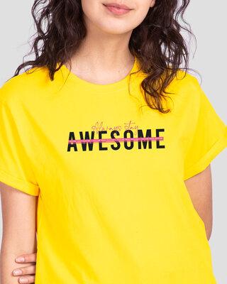 Shop Awesomeness Alert Boyfriend T-Shirts Pineapple Yellow-Front