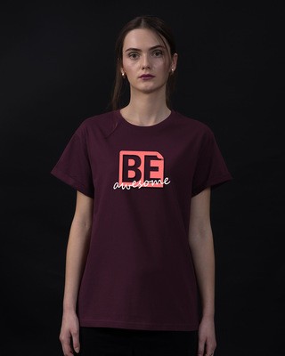 Shop Awesomeness Boyfriend T-Shirt-Front