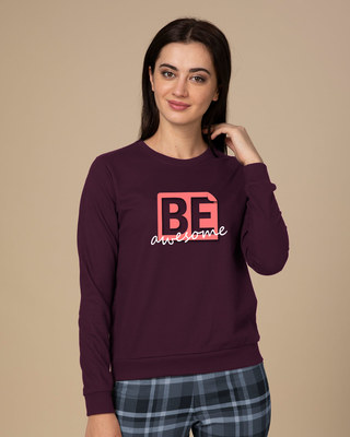 Shop Awesomeness Fleece Sweater-Front
