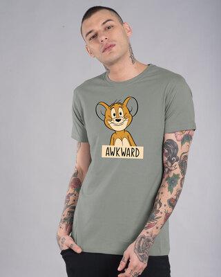 Shop Awkward Jerry Half Sleeve T-Shirt (TJL)-Front
