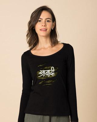 Shop Azaadi Scoop Neck Full Sleeve T-Shirt-Front