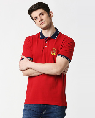 Shop B12 Chili Pepper Half Sleeve Tipping polo-Front