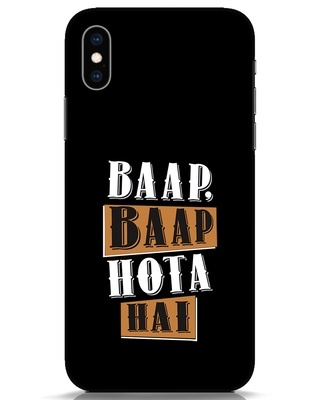 Shop Baap Baap Hota Hai iPhone XS Mobile Cover-Front
