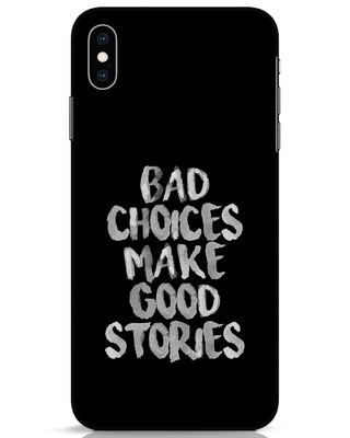 Shop Bad Choices iPhone XS Max Mobile Cover-Front
