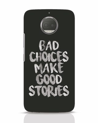 Shop Bad Choices Moto G5s Plus Mobile Cover-Front
