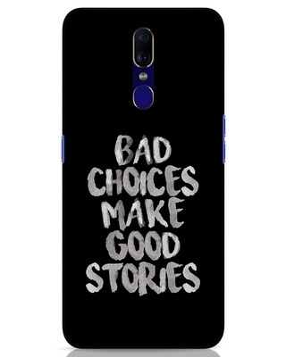 Shop Bad Choices Oppo F11 Mobile Cover-Front