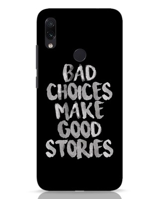 Shop Bad Choices Xiaomi Redmi Note 7 Pro Mobile Cover-Front
