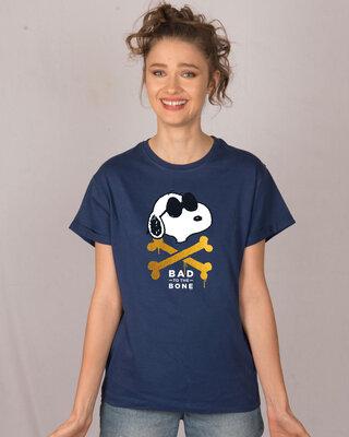 Shop Bad To The Bone Boyfriend T-Shirt-Front