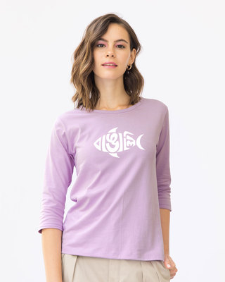 Shop Bangali Mach Round Neck 3/4th Sleeve T-Shirt-Front
