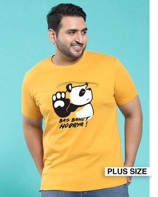 Shop Bas Bahut Hogaya Half Sleeve T-Shirt-Front