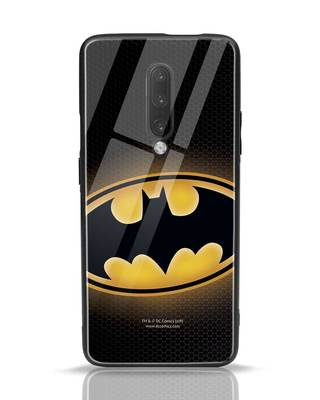 Shop Bat Logo OnePlus 7 Pro Glass Mobile Cover (BML)-Front
