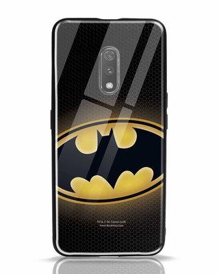 Shop Bat Logo Realme X Glass Mobile Cover (BML)-Front