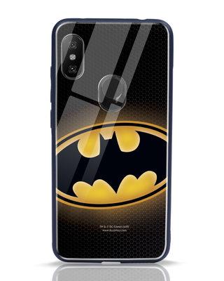 Shop Bat Logo Xiaomi Redmi Note 6 Pro Glass Mobile Cover (BML)-Front