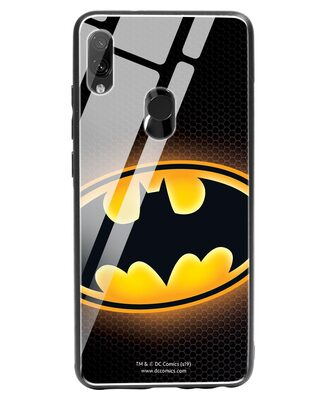 Shop Bat Logo Xiaomi Redmi Note 7 Glass Mobile Cover (BML)-Front