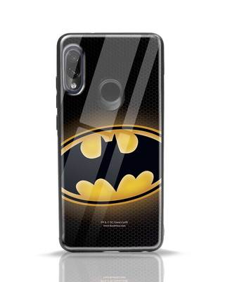 Shop Bat Logo Xiaomi Redmi Note 7 Pro Glass Mobile Cover (BML)-Front