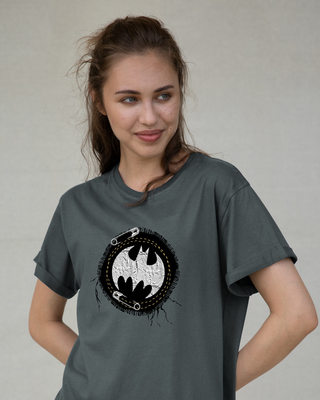Shop Batman Applique Boyfriend T-Shirt (BML)-Front