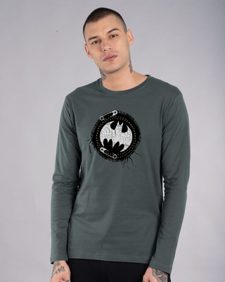 Shop Batman Applique Full Sleeve T-Shirt (BML)-Front