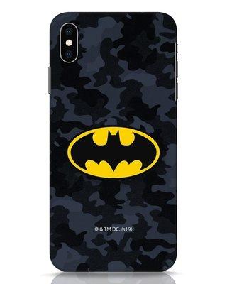 Shop Batman Camo Logo iPhone XS Max Mobile Cover (BML)-Front