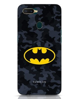 Shop Batman Camo Logo Oppo A7 Mobile Cover (BML)-Front
