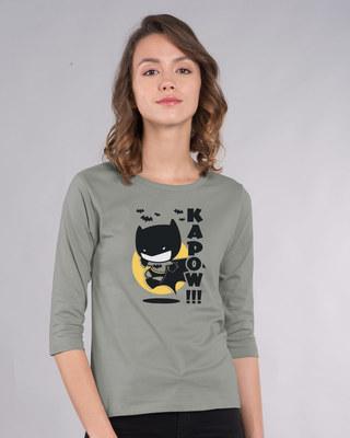 Shop Batman Chibi Round Neck 3/4th Sleeve T-Shirt (BML)-Front