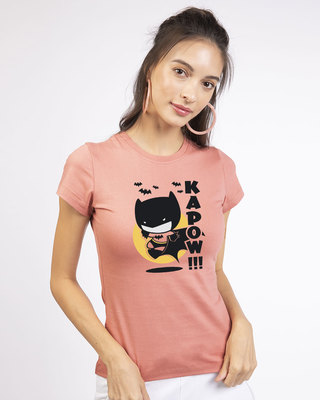 Shop Batman Chibi Round Neck T-Shirt (BML)-Front