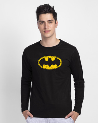 Shop Batman Classic Logo Full Sleeve T-Shirt (BML)-Front