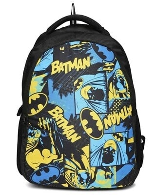 Shop Batman Colorful Printed Poster 23 Litre Backpack-Front