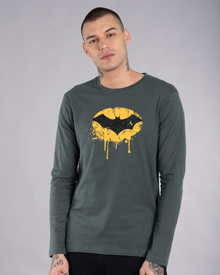Shop Batman Dripping Full Sleeve T-Shirt (BML)-Front