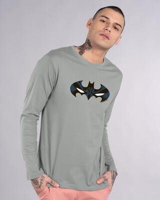 Shop Batman Eyes Logo Full Sleeve T-Shirt (BL)-Front