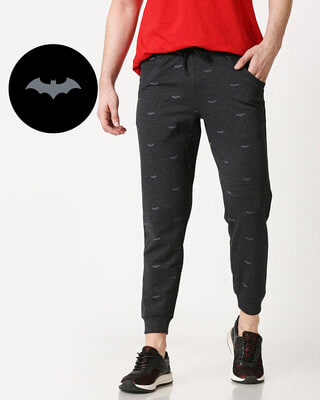 Shop Batman Minimal AOP Jogger Pants-Front