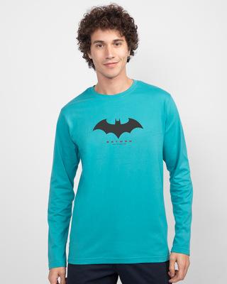 Shop Batman Outline Logo Full Sleeves T-Shirt-Front