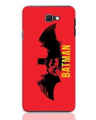 Shop Batman Red Samsung Galaxy J7 Prime Mobile Cover (BML)-Front