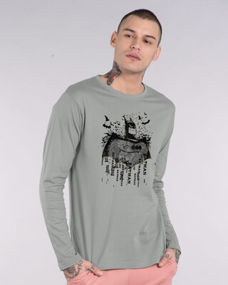 Shop Batman Sketch Full Sleeve T-Shirt (BML)-Front