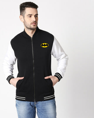 Shop Batman Varsity Bomber Jacket-Front