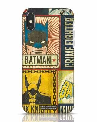 Shop Batman Vintage iPhone X Mobile Cover (BML)-Front