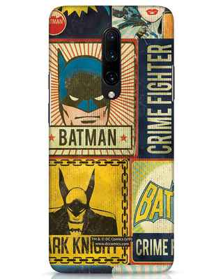Shop Batman Vintage OnePlus 7 Pro Mobile Cover (BML)-Front