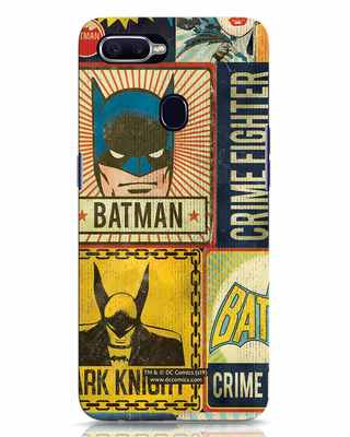 Shop Batman Vintage Oppo F9 Pro Mobile Cover (BML)-Front