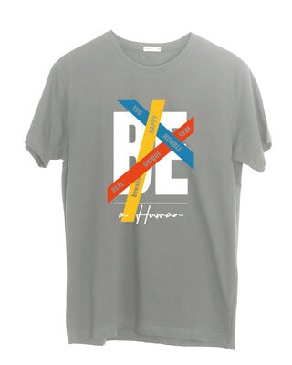 Shop Be A Human Half Sleeve T-Shirt-Front