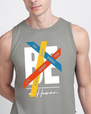 Shop Be A Human Vest-Front