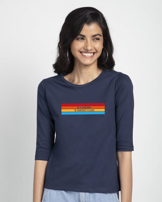 Shop Be A Rainbow Round Neck 3/4th Sleeve T-Shirt-Front