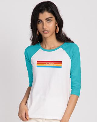 Shop Be A Rainbow T-Shirt 3/4th Sleeve Raglan T-Shirt-Front