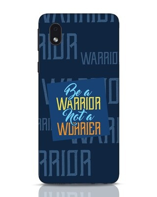 Shop Be A Warrior Samsung Galaxy M01 Mobile Cover-Front
