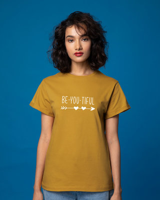 Shop Be Beautiful Boyfriend T-Shirt-Front