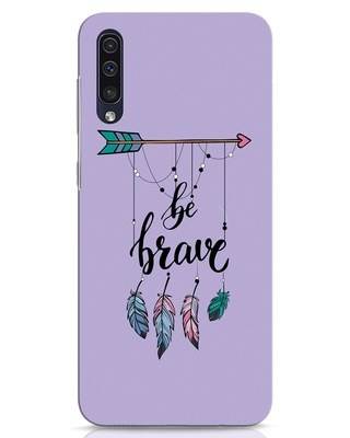 Shop Be Brave Samsung Galaxy A50 Mobile Cover-Front