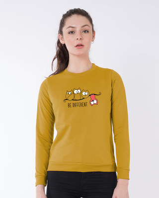 Shop Be Different Owl Fleece Sweater-Front
