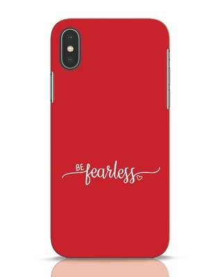 Shop Be Fearless iPhone X Mobile Cover-Front