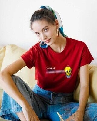 Shop Be Kind Tweety Boyfriend T-Shirts (LTL)-Front